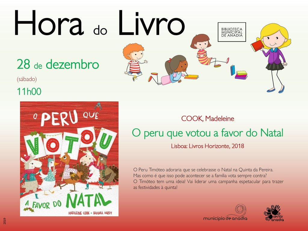 "Hora do Livro ""O peru que votou a favor do Natal"""