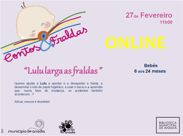 "Contos & Fraldas ""Lulu larga as fraldas!"" - Sessão online"